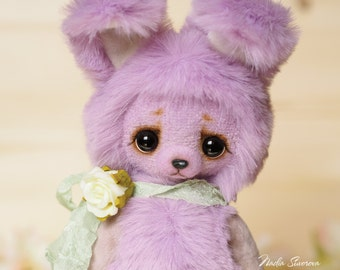 Made to order - Lilu the Bunny - artist teddy 5.5 inches bunny plush ooak toy gift