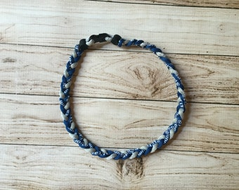 Titanium Tornado Sports necklace- Navy Blue Gray Grey