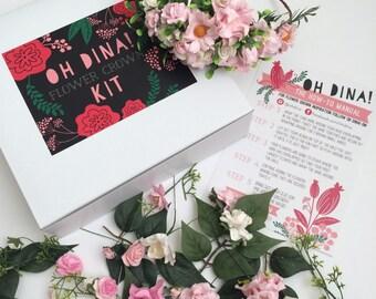 Blush Flower Crown DIY Kit- Make your own Flower Crown- Blush Wedding Headpiece- Blush Bridal Flower Crown