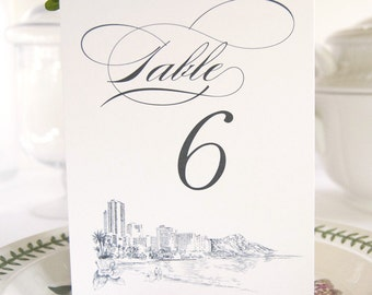 Hawaii Skyline Table Numbers (1-10)