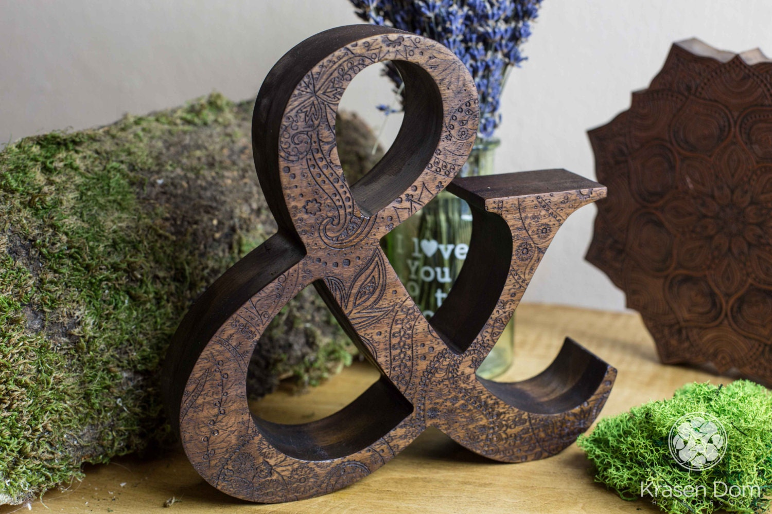 8 engraved wooden letters of natural walnut wood personalized wooden letters free standing letters wedding letters custom letters