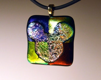 Dichroic Glass Pendant that will dazzle your friends. Show off your love of Disney!