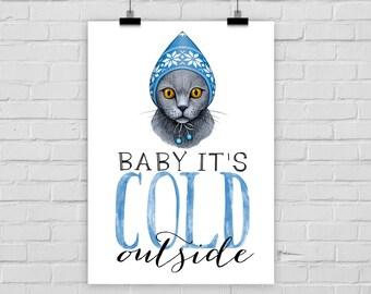 fine-art print poster COLD CAT