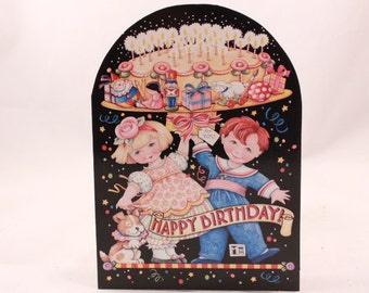 Vintage 1995 Happy Birthday Card by Mary Engelbreit. 1 Card and 1 Envelope included