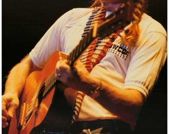 Willie Nelson with  Guitar  Rare Vintage Poster