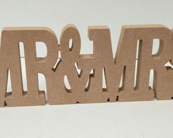 Freestanding MR&MRS table decoration