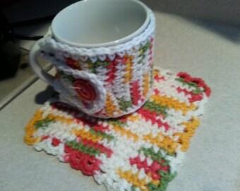 Coffee Cozy & Mug Rug