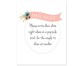 Instant Download Date Night Jar Sign - 8x10
