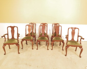 L40468E: Set Of 8 HENKEL HARRIS Model #109 Cherry Dining Room Chairs