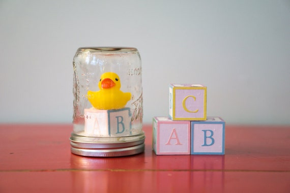 b b canard en plastique bloc boule neige mason jar. Black Bedroom Furniture Sets. Home Design Ideas