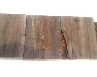 Reclaimed Wood Planks - 3pcs 2x10 Weathered Scaffold Piece - 12""