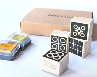 DIY set BARCELONA TILES Stamp Set. Rubber stamps set Bcn. Minimal rubber stamps. Barcelona Lovers. Scrapbook Barcelona. Barcelona gift box.