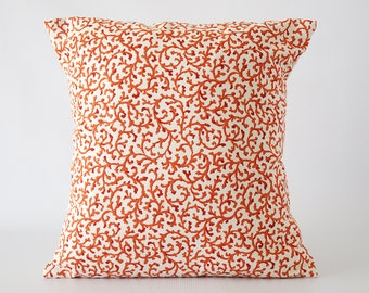 Orange 26x26 pillow, pillow cover, orange decorative pillow, orange pillow cover, throw pillows, cushion, decorative pillows