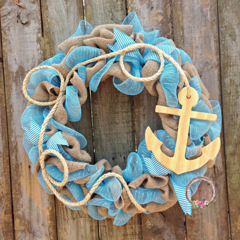 Do It Yourself Home Design: Summer Door Wreaths Anchor Wreath Nautical Door Wreath