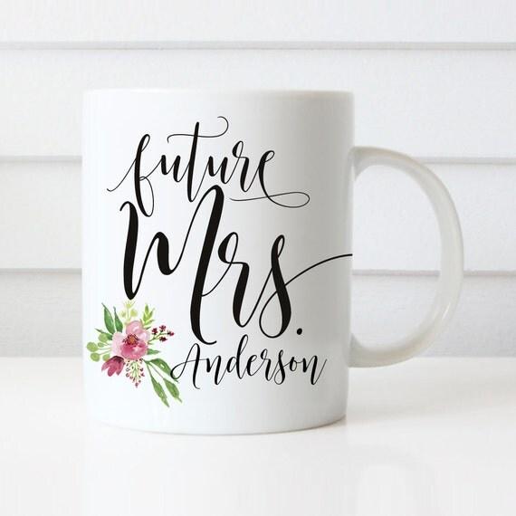 Customized Wedding Gift Mugs : Mrs Mugs, Wedding Gift, Personalized Wedding Mugs, Engagement Gift ...