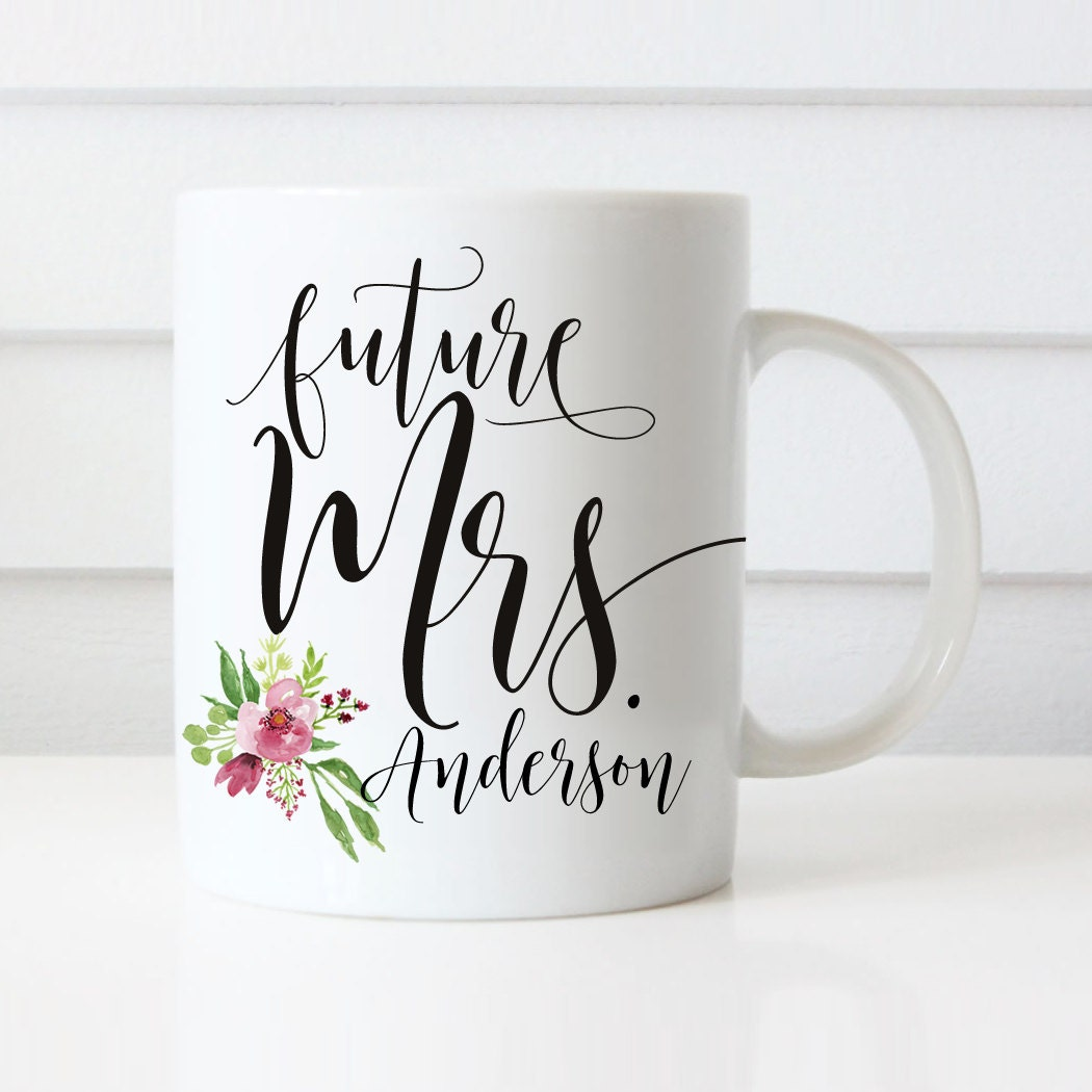 Personalized Wedding Gifts: Future Mrs Mugs Wedding Gift Personalized Wedding Mugs