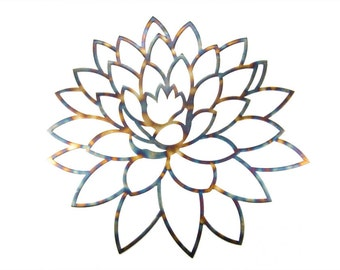 Lotus Flower Torch Blue