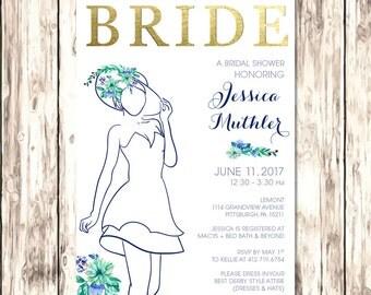 Bridal Shower Invitation | Bridal Shower Invitation Printable | Bridal Shower Invitation Dress | Derby Bridal Shower | JPG, PDF, Printable