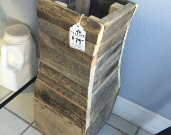 Reclaimed Wood Decorative Holder