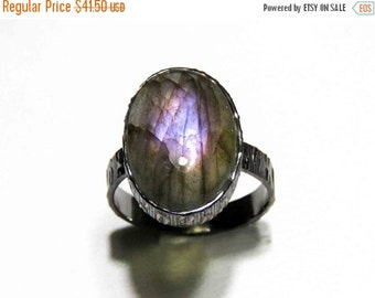 20% off Purple Labradorite Ring// Oxidized Ring// Silver Ring// Black Ring// Statement Ring// Gemstone Ring Handmade