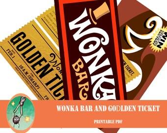 Wonka bar   Etsy