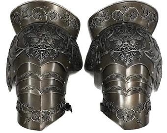 Larp Armour Medieval Negroli Pauldrons