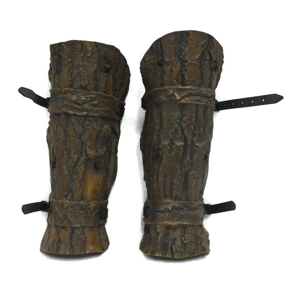 Larp Armor Studded Bark effect Greaves legs