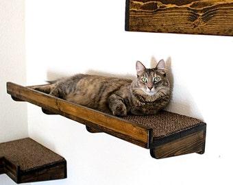 Cat Bed Cat Shelf Cat Step Rustic Cat Wall Bed By