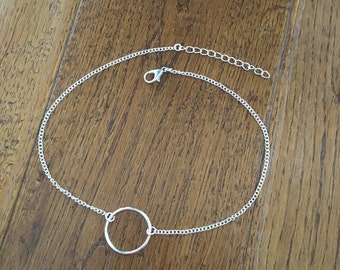Large Circle Necklace - Hollow Dainty