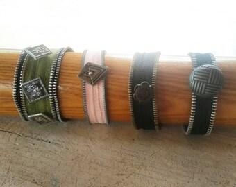 Zipper Bracelets, OOAK Upcycled Zipper Bracelets