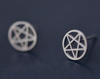 Constellation Earrings,Stars Earrings,Magic Pattern Earrings,ER093,Gift For Astrophile,Sterling Silver Stud Earrings