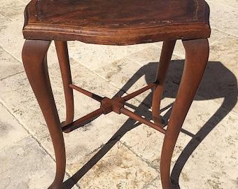 Rare Late 1800u0027s James Shoolbred And Co. London Victorian Era Cabriole Leg  Mahogany Stool