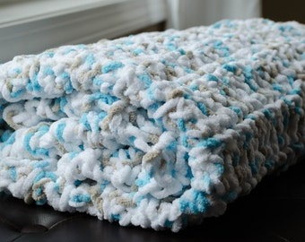 Chenille Crocheted Baby Blanket Chicks And By Twotwocreations