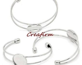 2 silver bracelets Cabochon 18mm