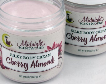 Body Butter - Cherry Almond Lotion - Silky Body Cream - Hand Cream - Body Lotion - Best-Selling Lotion!  Shea Butter Lotion - Gift for Mom