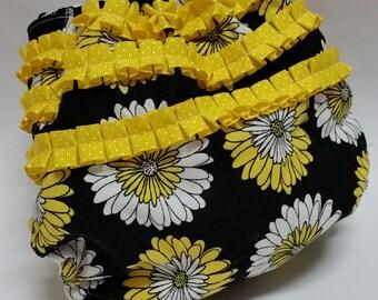 Yellow Flower Pocket Diaper