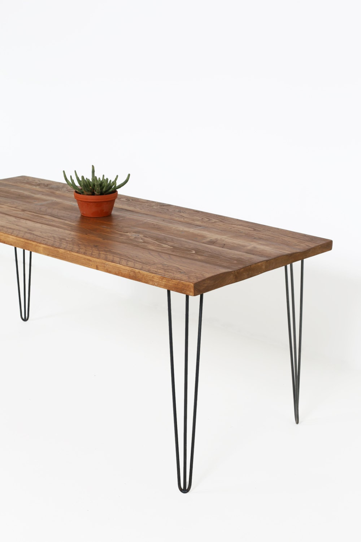 Tisch Haarnadel Beine ~ Tisch mit Rustikalen Charm Kernstück der Küche Hairpin