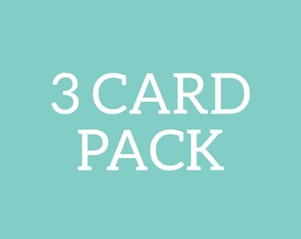 3 card pack | greeting cards | foil cards | just because | all occasion