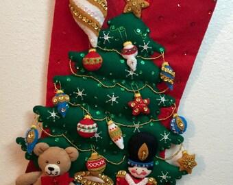 Bucilla Under the Tree Christmas stocking
