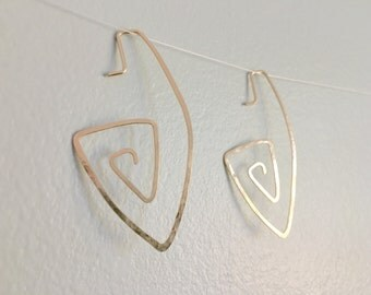10k Gold Geometric Earrings
