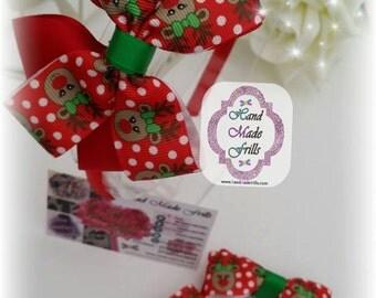 Christmas Reindeer Headband set, Reindeer Polkadot headband set