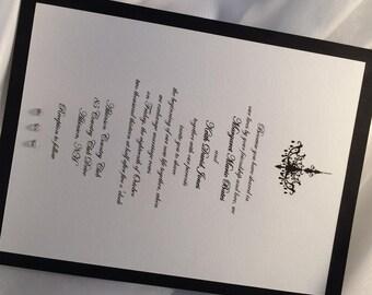 Chandelier, Rhinestone, Wedding Invitation