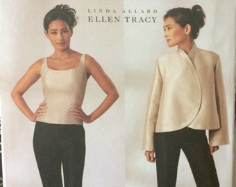 Misses' Jacket, Top and Pants Pattern McCalls 3916 by Ellen Tracy