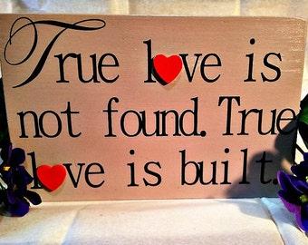 "Reclaimed Wood ""True Love"" Sign"