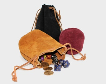 Suede Leather Drawstring Pouch