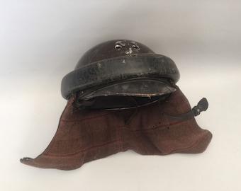 Spanish Civil War Era Tanker Helmet