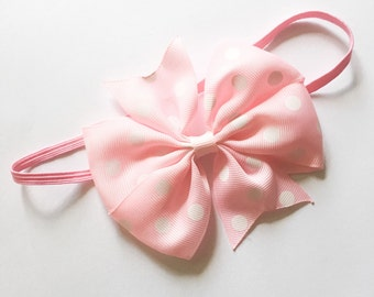 Polka Dot Baby Pink Headband Baby Accessory