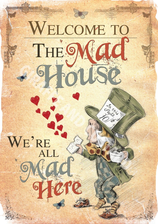 Alice in Wonderland Printable A4 Poster Art Mad Hatter