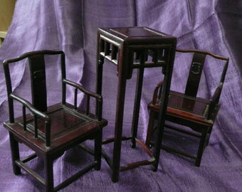 NEW! Set of miniature Classic Chinese furniture,made from rosewood.