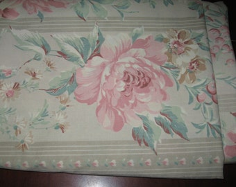 Queen Flat Sheet/Shabby Chic/Lady Pepperell
